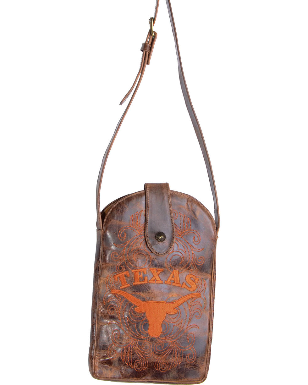 Gameday Boots University of Texas Crossbody Bag, Brass, hi-res