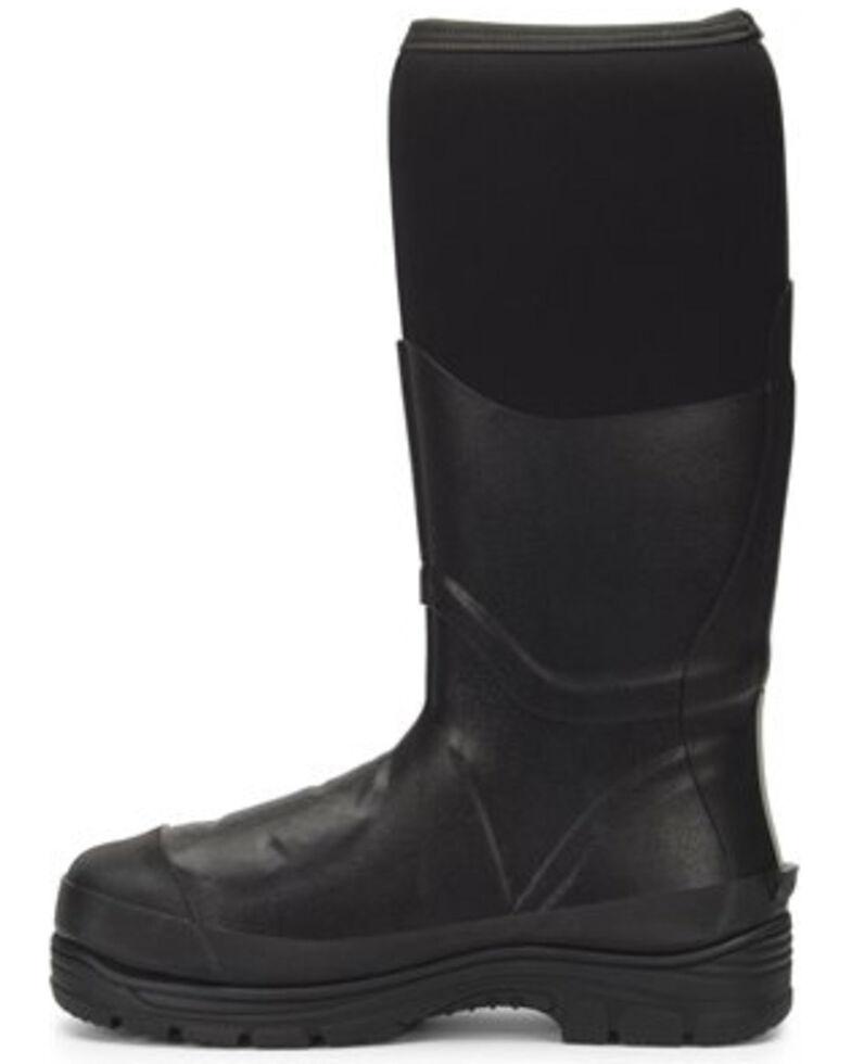"""Double H Men's 16"""" Rubber Met Guard Work Boots - Steel Toe, Black, hi-res"""