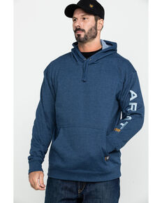 Ariat Men's Rebar Graphic Hooded Work Sweatshirt - Big & Tall, Navy, hi-res