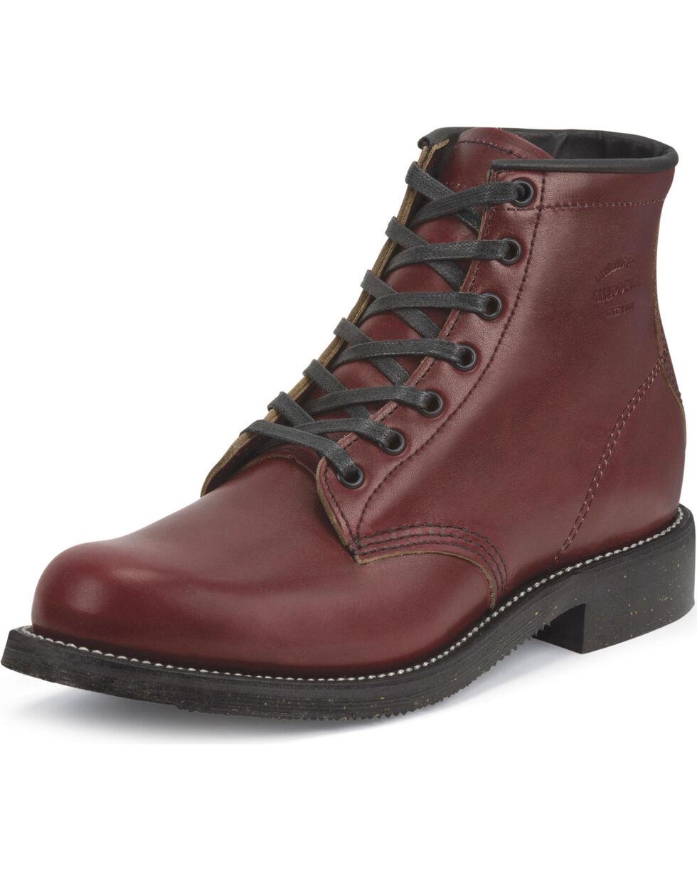 "Chippewa Men's 6"" Limited Edition Full Grain Oxblood Work Boots, Mahogany, hi-res"