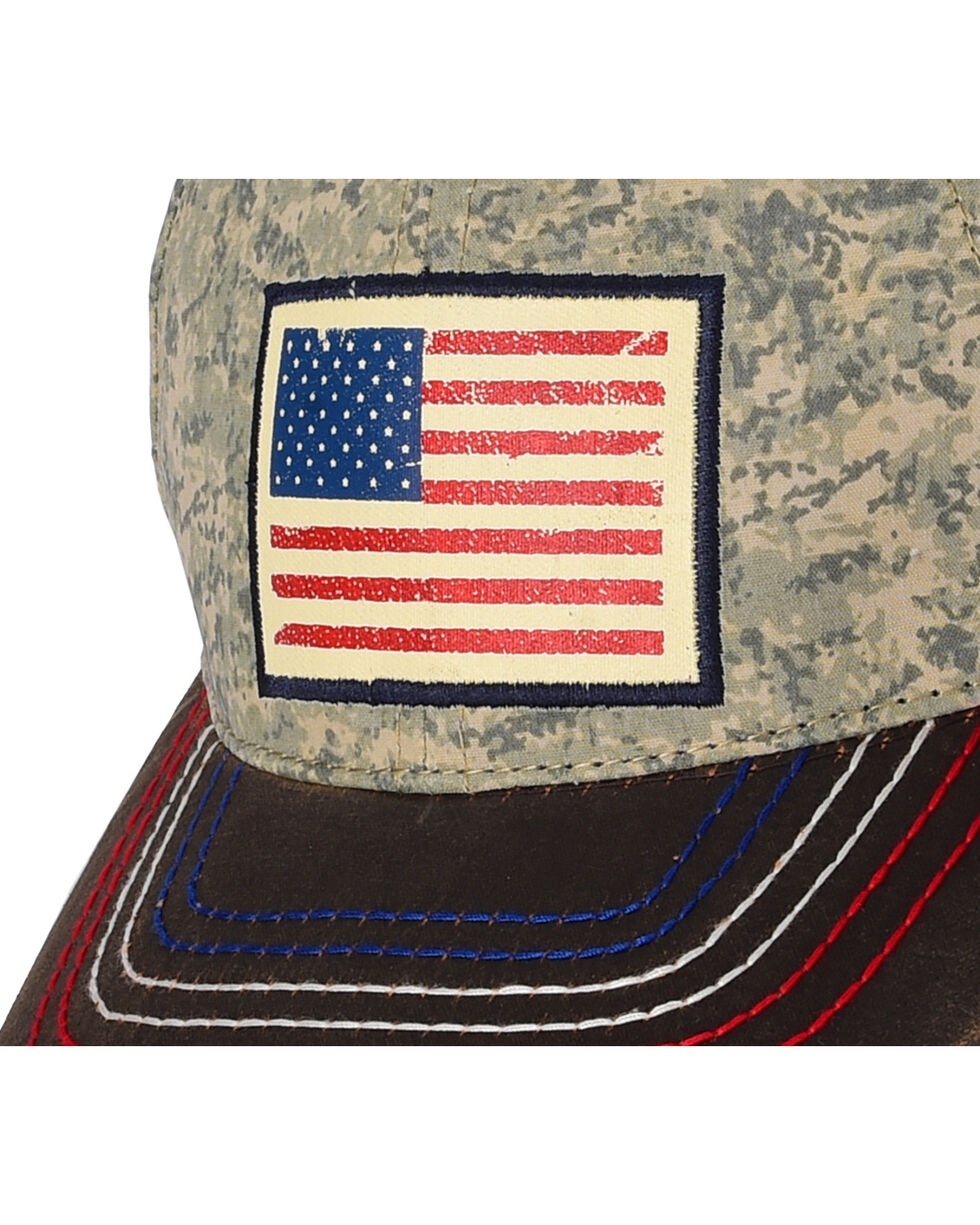 Larry Mahan Men's Old Glory Cap, Brown, hi-res