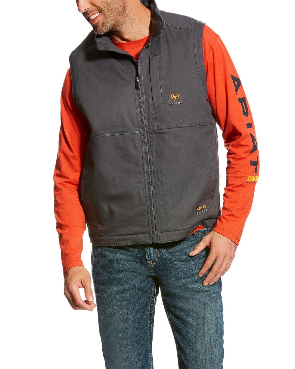 Ariat Men's Rebar Light Grey Duracanvas Vest - Big & Tall, Light Grey, hi-res