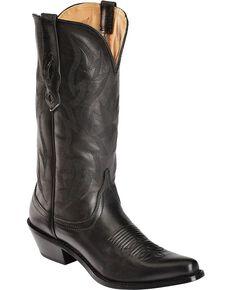 Nocona Women's Deertanned Snip Toe Western Boots, Black, hi-res