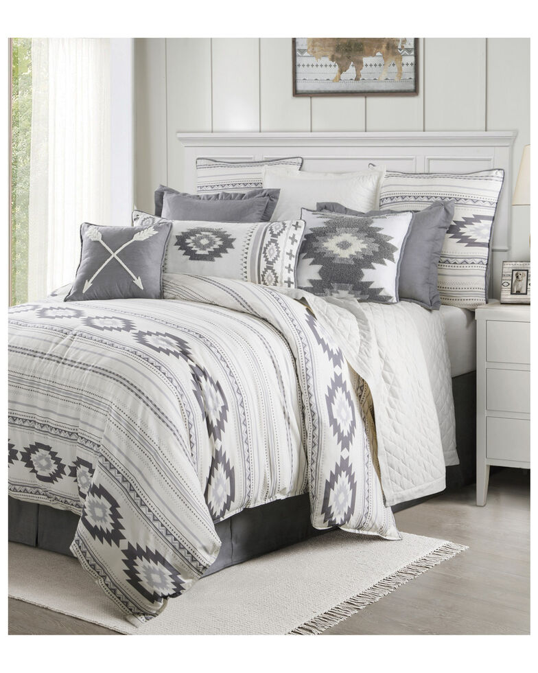 HiEnd Accents Free Spirit Twin Bedding Set, Grey, hi-res