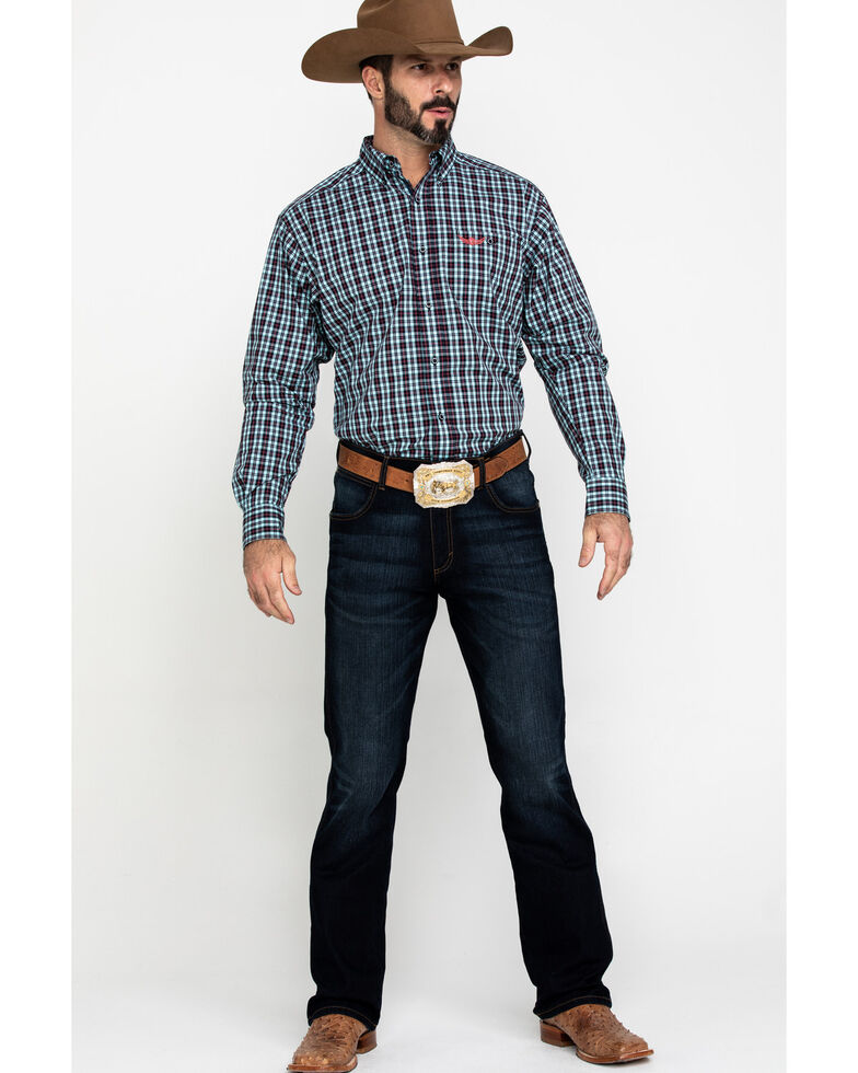 Ariat Men's Relentless Tough Stretch Plaid Long Sleeve Western Shirt , Multi, hi-res