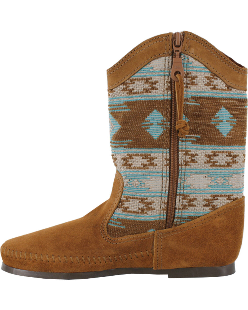 Minnetonka Women's Baja Boots, Dusty Brn, hi-res