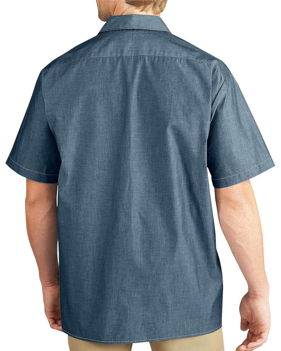 Dickies Relaxed Fit Chambray Short Sleeve Shirt - Big & Tall, , hi-res