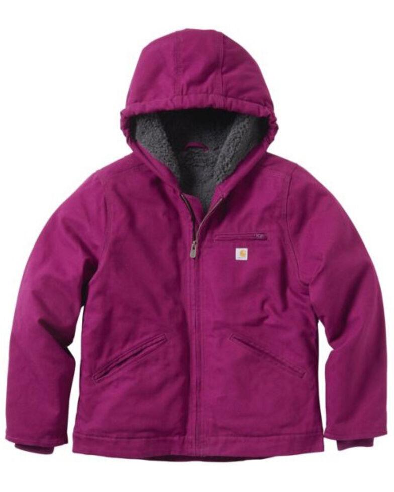 Carhartt Girls' Plum Caspia Sierra Sherpa Lined Jacket, Purple, hi-res