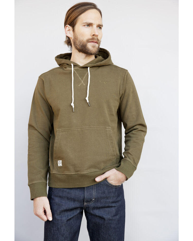 Kimes Ranch Men's Snake Eyes Hooded Sweatshirt , Green, hi-res