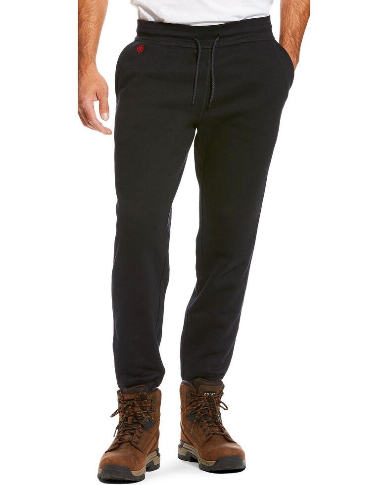 Ariat Men's FR Work Sweatpants - Big, Black, hi-res