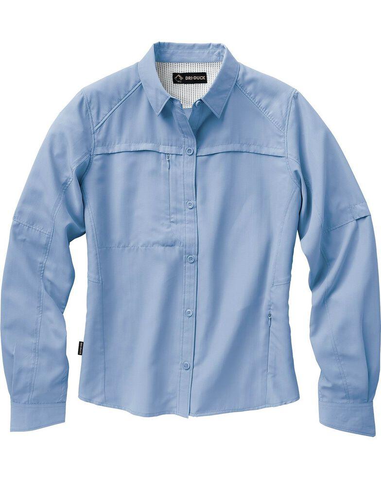 Dri Duck Women's Release Long Sleeve Shirt - Plus, Sky, hi-res