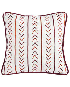 HiEnd Accents Embroidery Pillow With Striped Embroidery, Multi, hi-res
