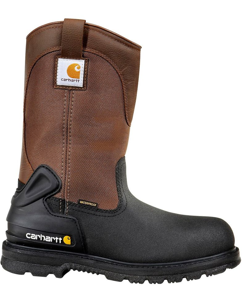 """Carhartt 11"""" Insulated Brown Work Boots - Safety Toe, Brown, hi-res"""