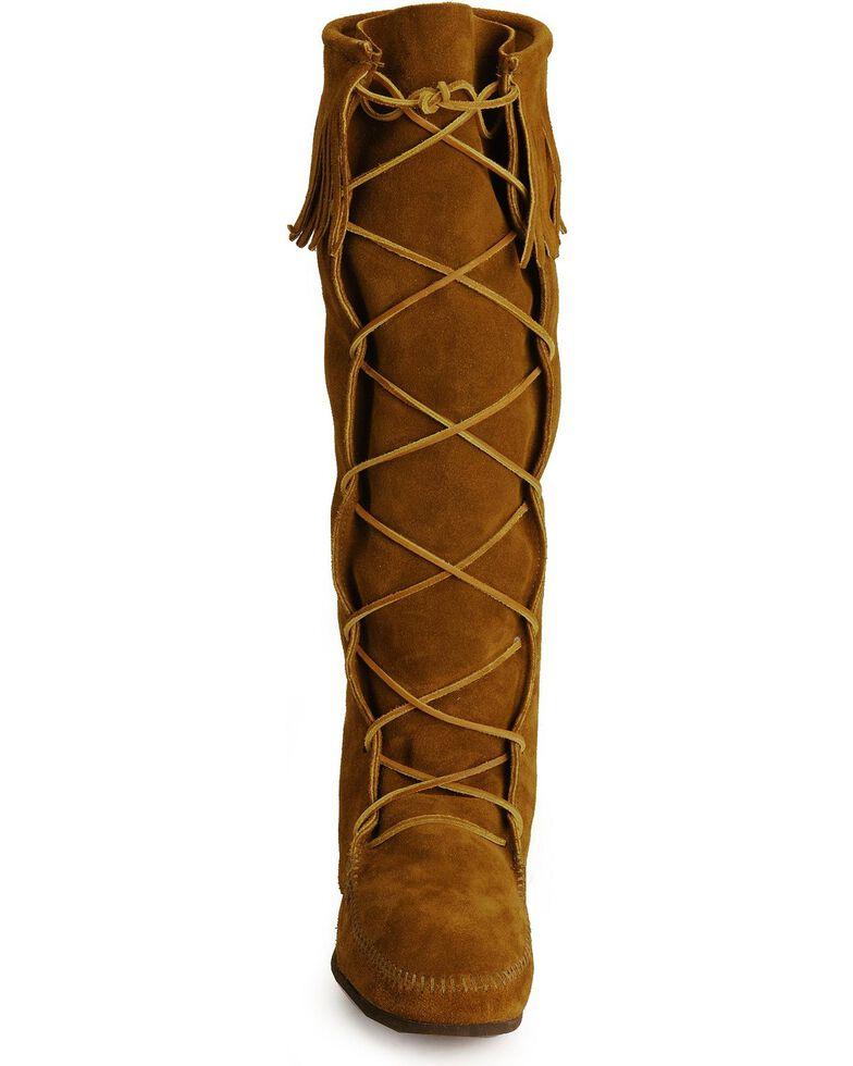 e68a209174e7 Minnetonka Men s Lace-Up Suede Knee High Boots