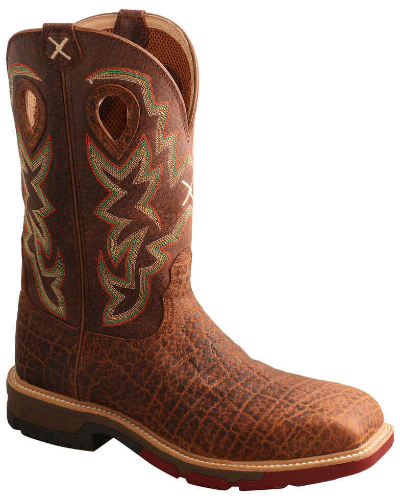 Twisted X Men's Tan Western Work Boots - Soft Toe, Tan, hi-res