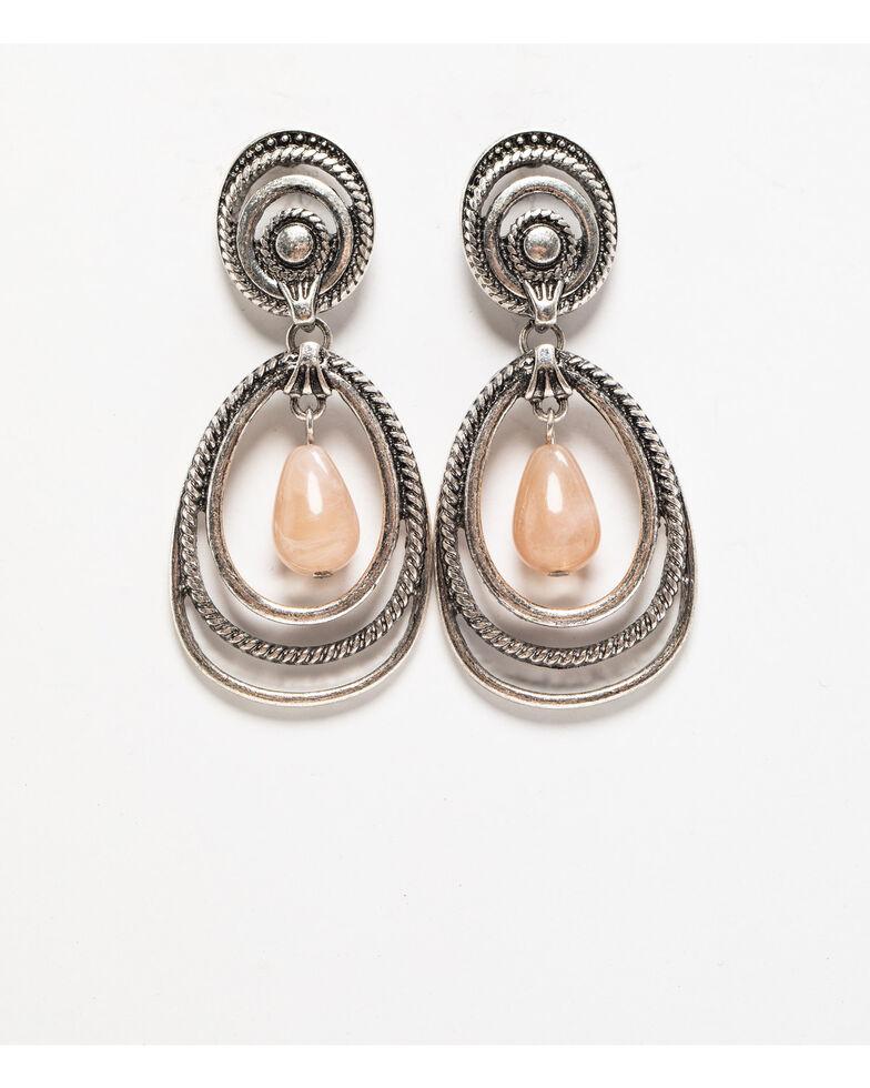 Shyanne Women's Moonlit Swirl Hoop Earring, Silver, hi-res