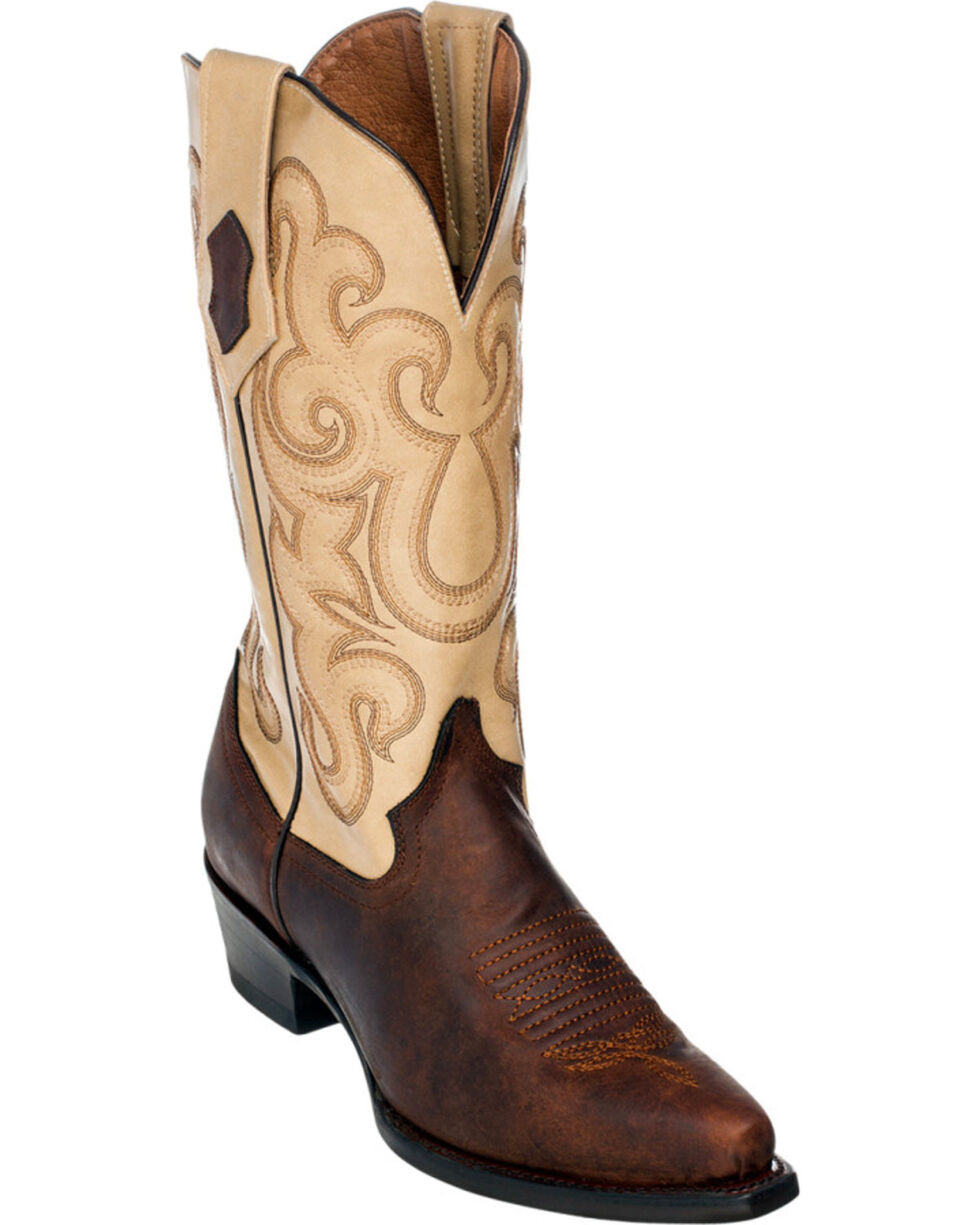 Ferrini Women's Square Toe Western Boots, Chocolate, hi-res