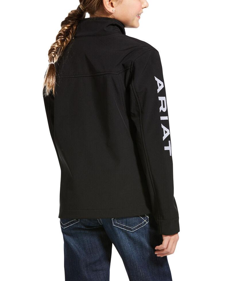 Ariat Black New Team Zip Up Softshell Jacket , Black, hi-res