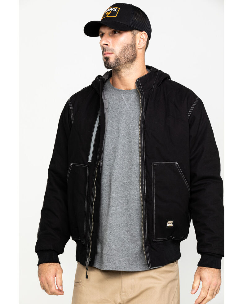 Berne Men's Torque Ripstop Hooded Work Jacket , Black, hi-res