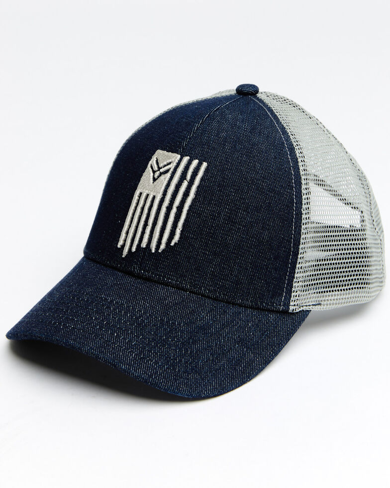 Hawx Men's Flag Logo Mesh Cap , Blue, hi-res