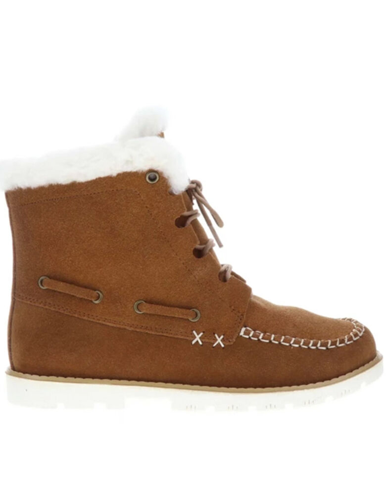 Lamo Footwear Women's Meru Winter Boots - Moc Toe, Chestnut, hi-res