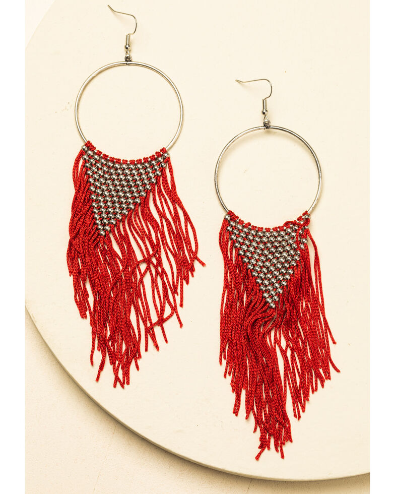 Idyllwind Women's The One In Red Drop Fringe Earrings, Red, hi-res