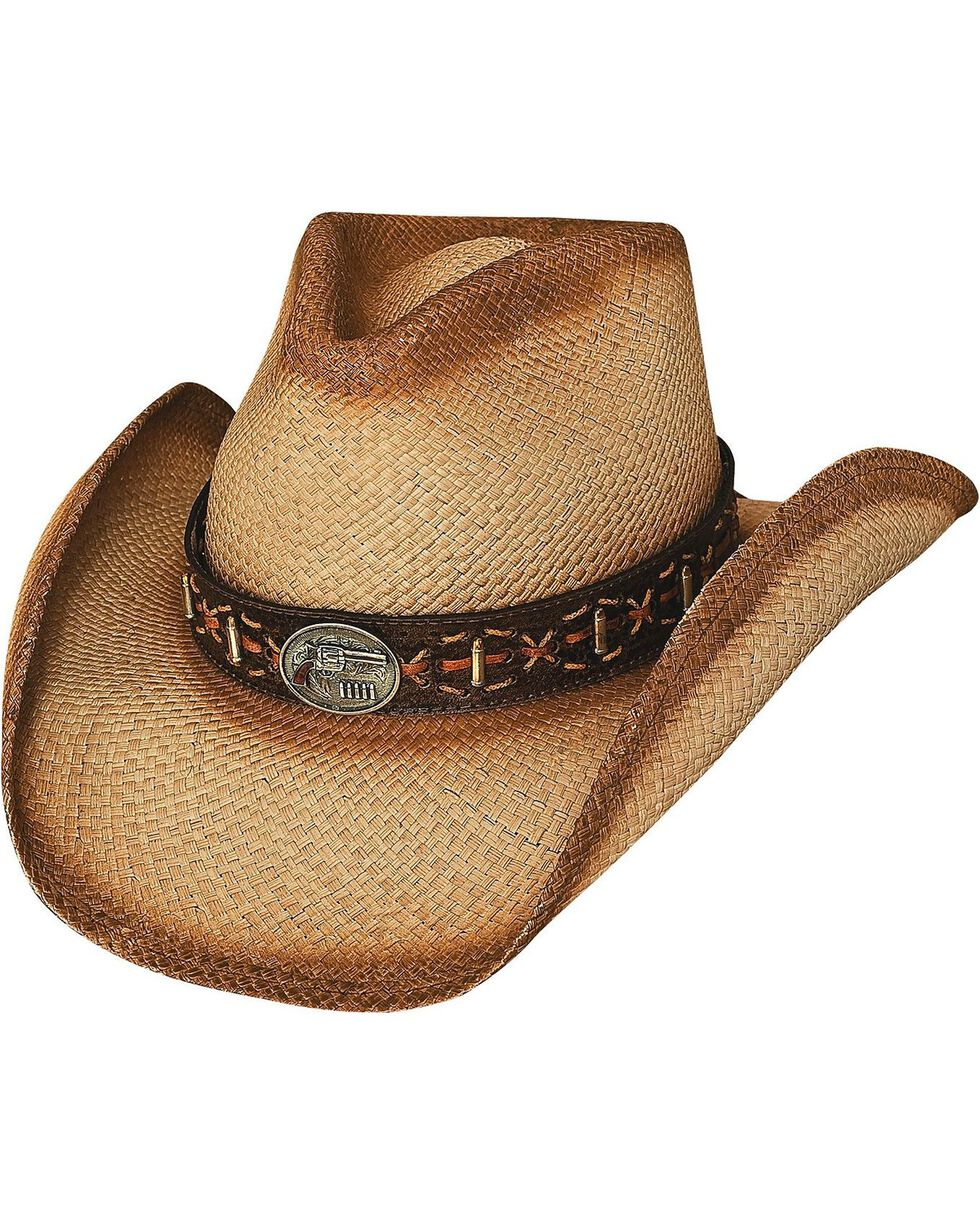 Bullhide Men's Left Handed Gun Straw Hat, Natural, hi-res