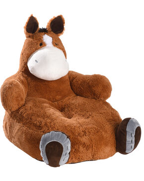 Lil BB Lucky Fiona Horse Plush Chair, Brown, hi-res
