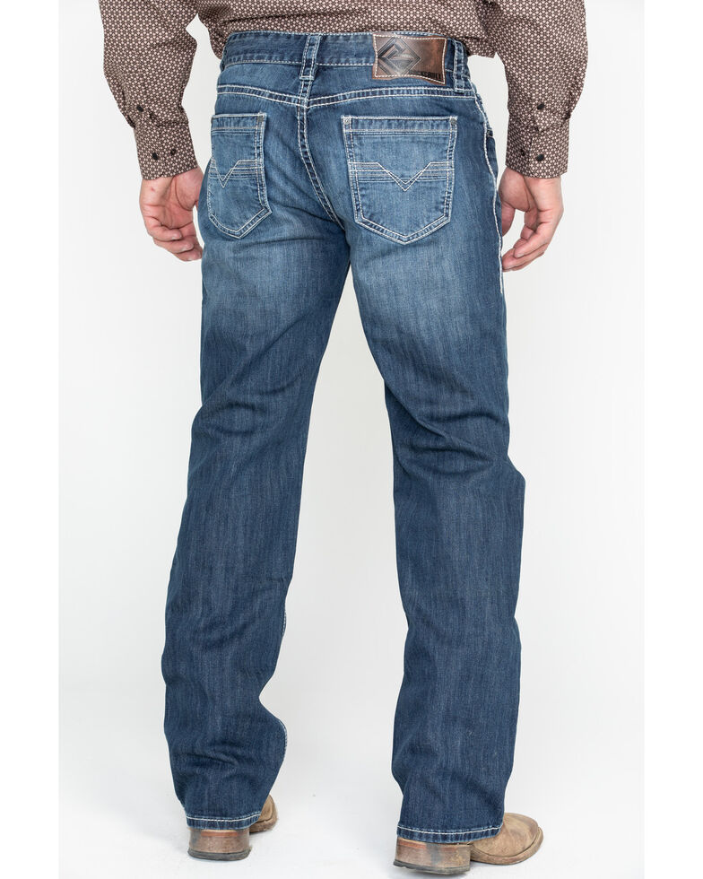 Rock & Roll Denim Men's Reflex Double Barrel Straight Leg Jeans, Blue, hi-res