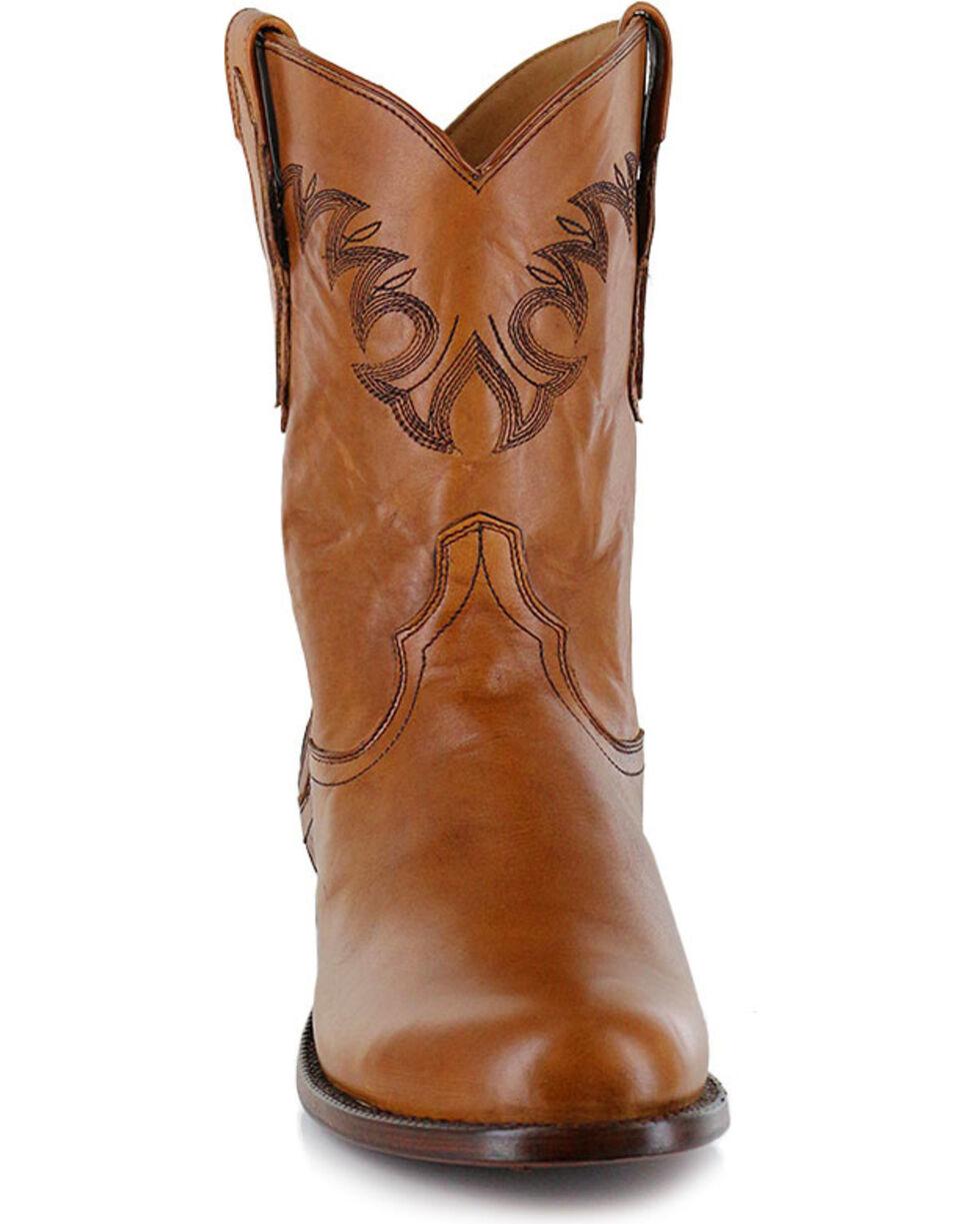 El Dorado Men's Embroidered Round Toe Western Boots, Tan, hi-res