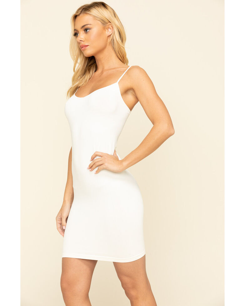 Intimately by Free People Women's Solid Seamless Mini Slip , White, hi-res