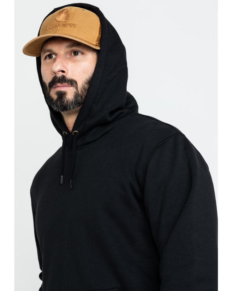 Carhartt Men's Rain Defender Paxton Heavyweight Hooded Sweatshirt, Black, hi-res