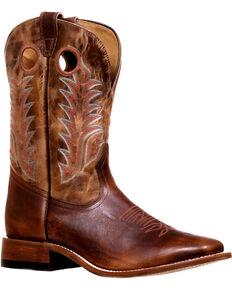 Boulet Men's Challenger Stockman Cowboy Boots - Square Toe, Brown, hi-res