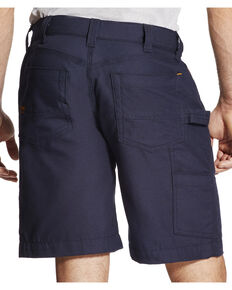 Ariat Rebar Men's Navy Canvas Work Shorts, Navy, hi-res