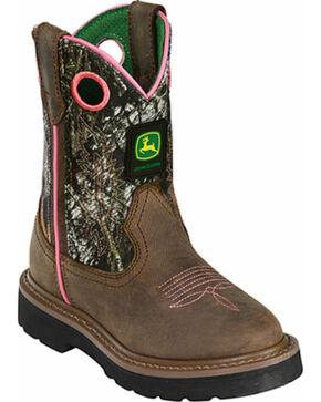 John Deere® Children's Classic Western Boots, Camouflage, hi-res