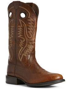Ariat Men's Sport Big Hoss Patina Western Boots - Round Toe, Brown, hi-res