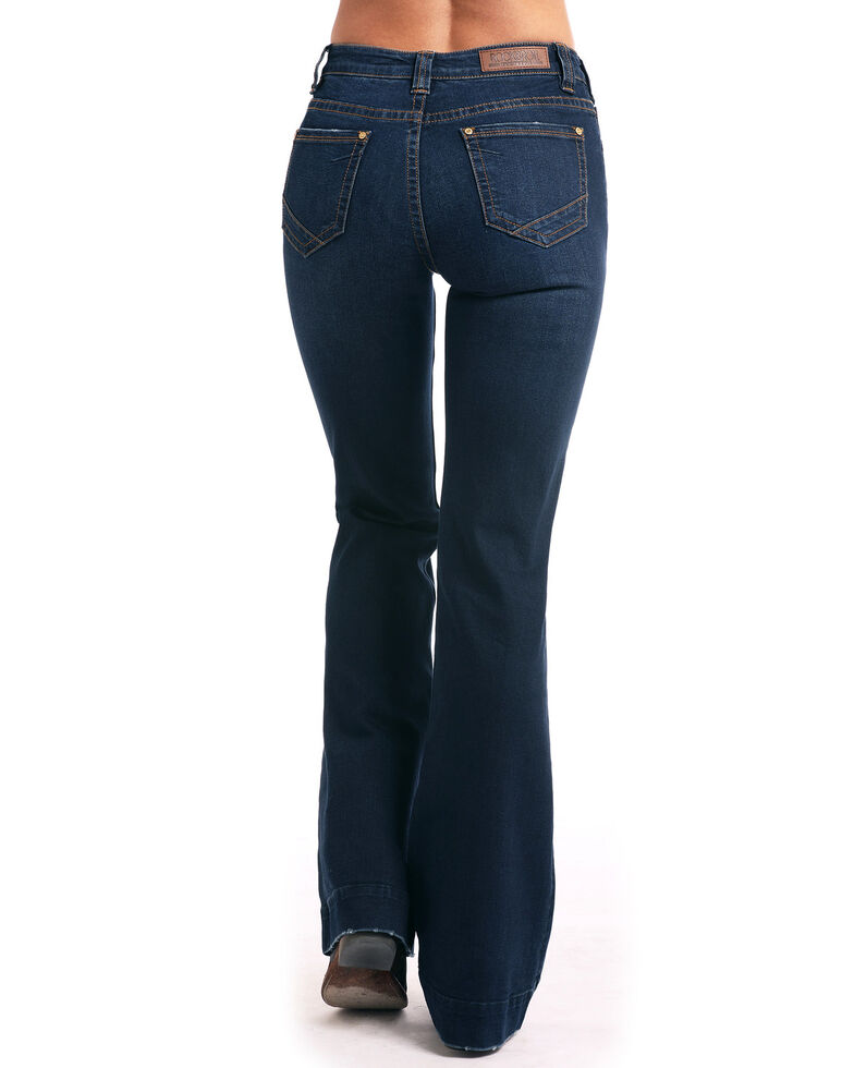 Rock & Roll Denim Women's Extra Stretch High Waist Trousers, Indigo, hi-res