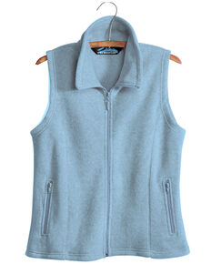 Tri-Mountain Women's Pale Blue 2X Crescent Fleece Vest - Plus, Light Blue, hi-res