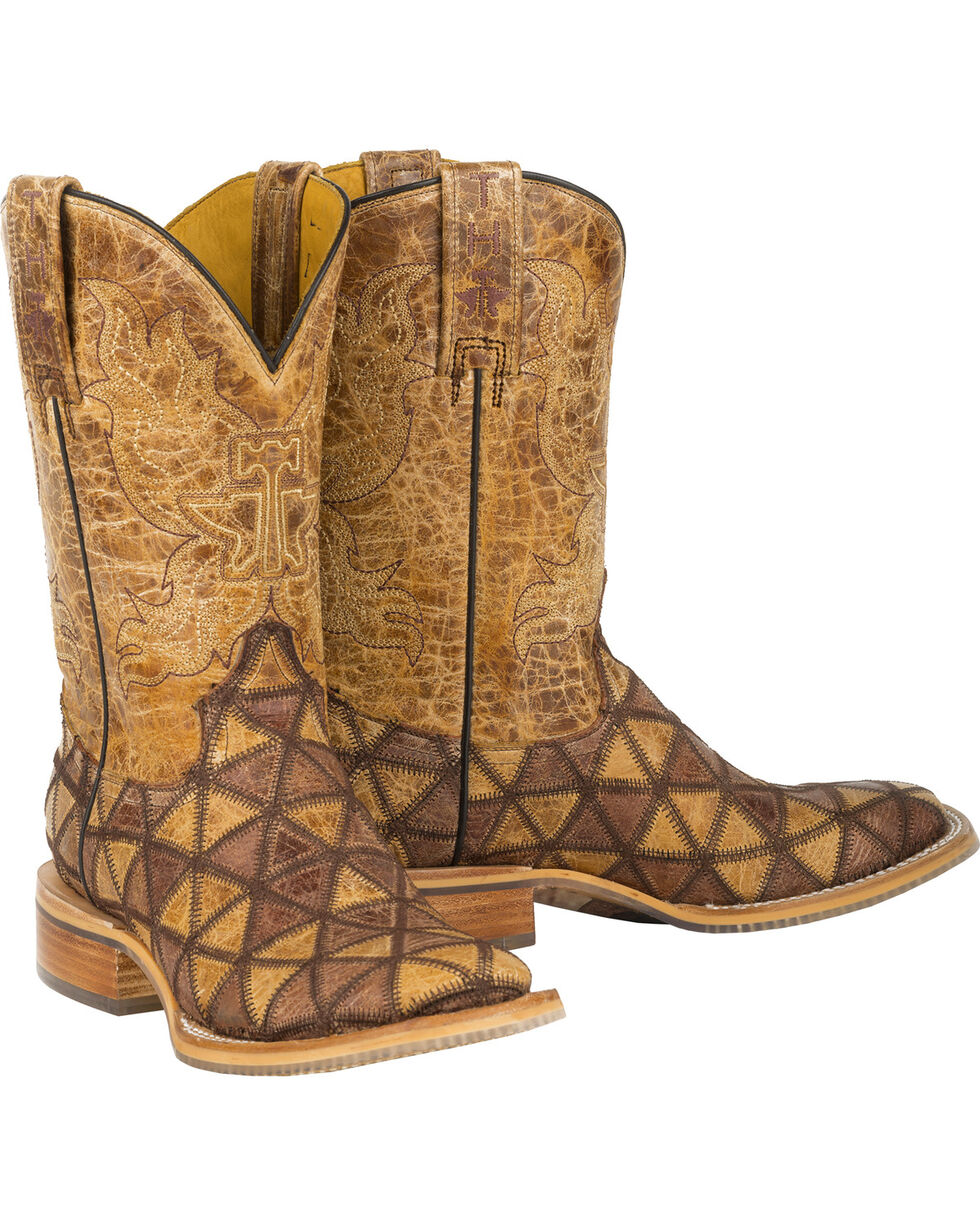 Tin Haul Tan Conquer the World Cowgirl Boots - Square Toe , Tan, hi-res