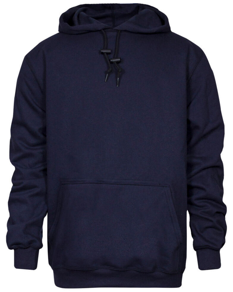National Safety Apparel Men's Navy FR Heavyweight Hooded Work Sweatshirt - Big , Navy, hi-res