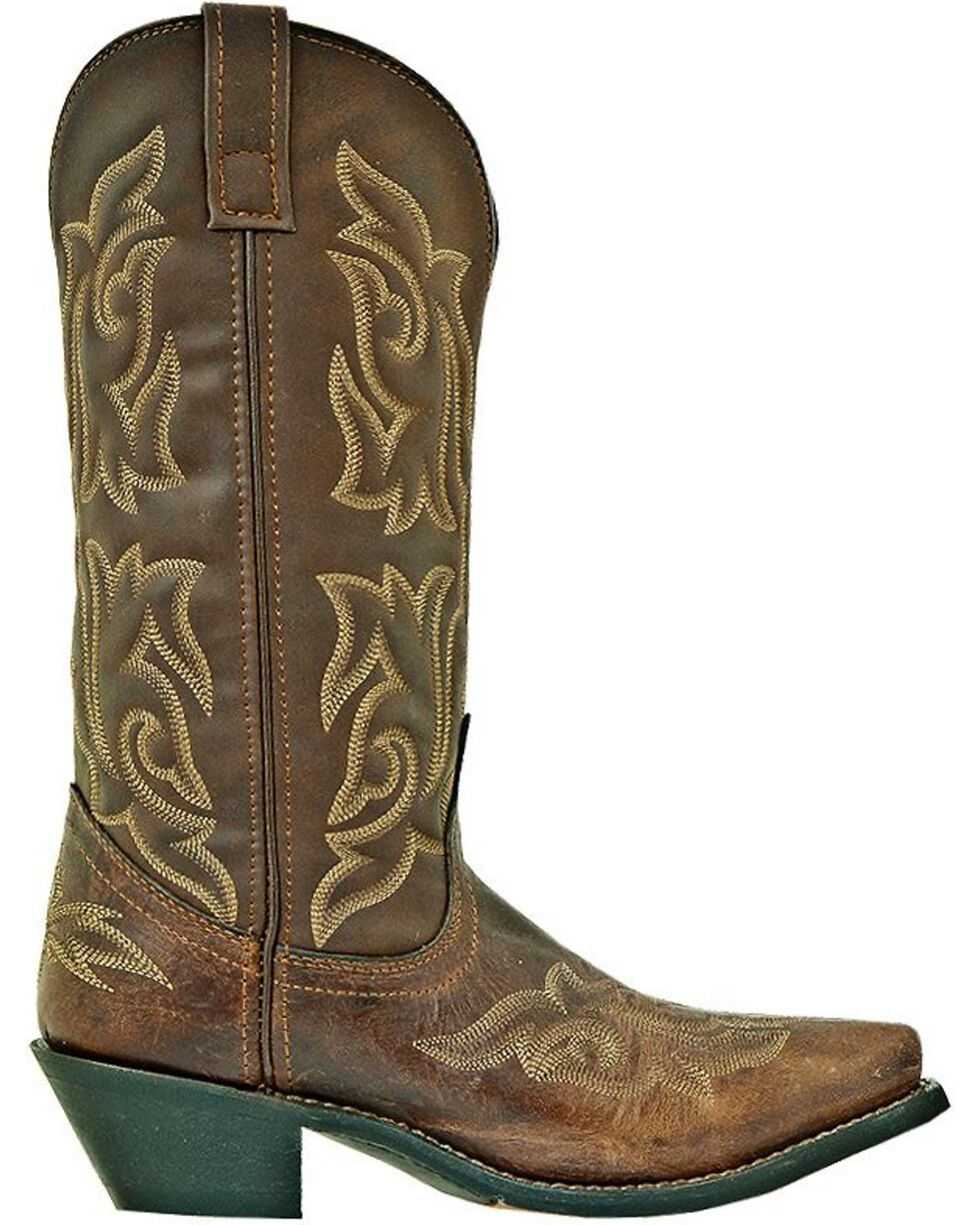 Laredo Women's Runaway Western Boots, Brown, hi-res