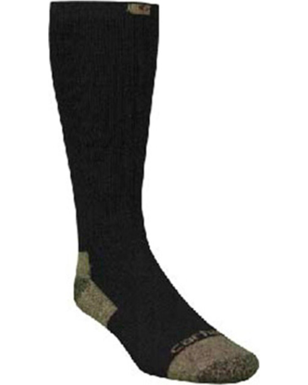 Carhartt Men's 2 Pack All Season Steel Toe Crew Socks, Black, hi-res