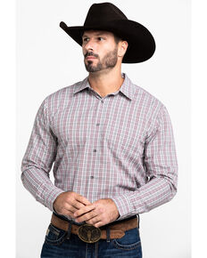 Gibson Men's Arden Plaid Long Sleeve Western Shirt , Black, hi-res