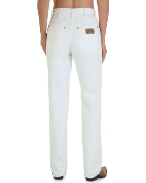 Wrangler Women's Cowboy Cut Slim Fit Jeans, White, hi-res