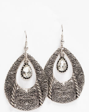 Idyllwind Women's In The Spirit Teardrop Earrings, Silver, hi-res