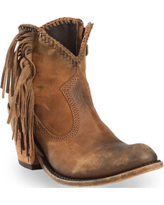 Liberty Black Women's Vegas Faggio Booties - Round Toe , Brown, hi-res