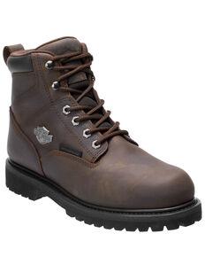 Harley Davidson Men's Gavern Waterproof Work Boots - Soft Toe, Brown, hi-res