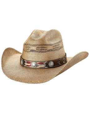 Bullhide Women's Trailblazer Straw Hat, Pecan, hi-res