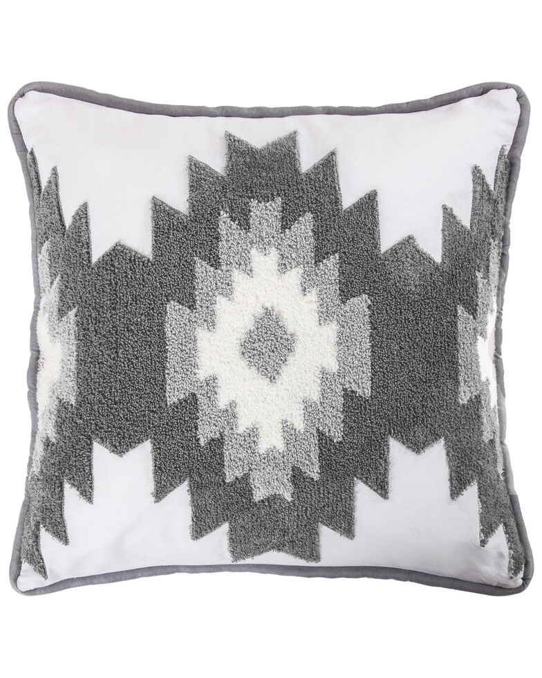 HiEnd Accents Free Spirit Pillow, Grey, hi-res