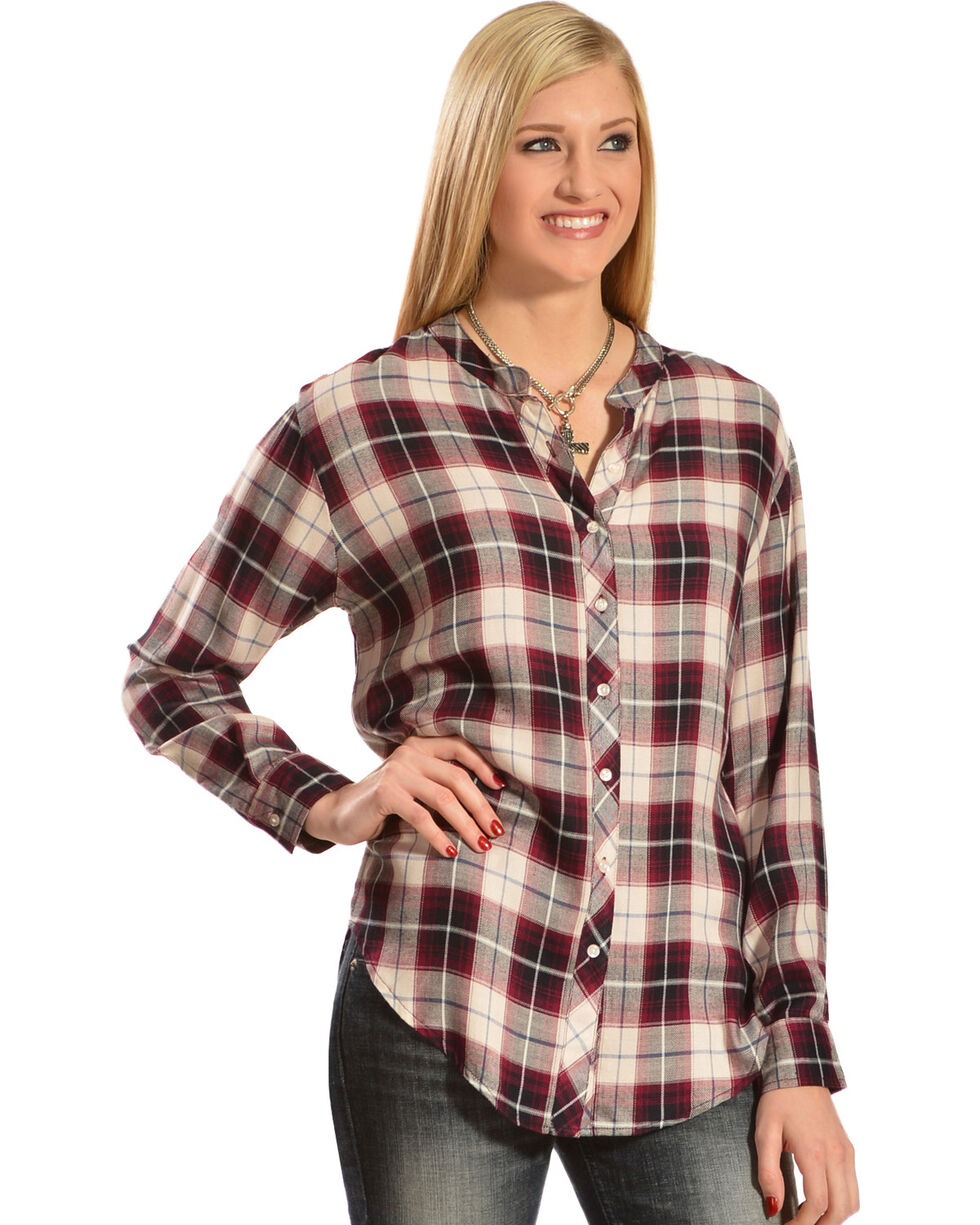 White Crow Women's Mirror Mirror Plaid Top, Red, hi-res
